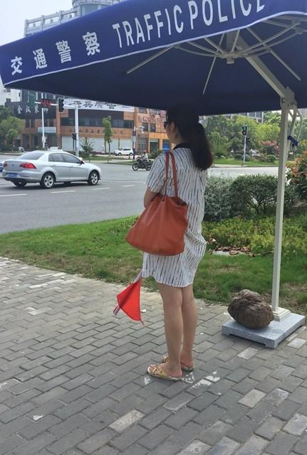 部机关职工上街头开展交通志愿服务活动(2017年8月21日)
