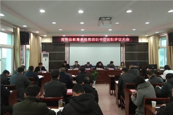 县委教育工委召开2018年度基层党组织书记抓党建工作述职评议大会